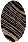 rug #991857 | oval black stripes rug