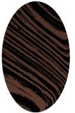 rug #991861   oval black natural rug