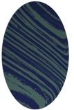 rug #991885   oval blue abstract rug