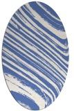 rug #991893 | oval blue abstract rug
