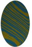 rug #991925 | oval blue-green natural rug