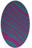 rug #991929 | oval pink rug