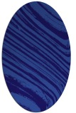 rug #991949 | oval blue-violet stripes rug