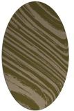 rug #991961 | oval mid-brown stripes rug