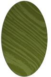 rug #991973 | oval green abstract rug