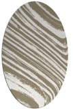 rug #992001 | oval white stripes rug