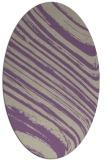 rug #992029 | oval beige stripes rug