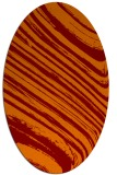 rug #992045 | oval orange stripes rug