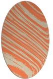 rug #992053 | oval orange rug