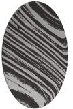 rug #992057 | oval orange abstract rug