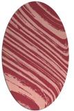 rug #992069 | oval pink natural rug