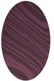 rug #992077 | oval purple abstract rug