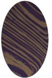 rug #992085 | oval purple popular rug