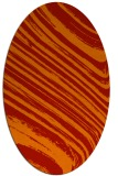 rug #992097 | oval red abstract rug