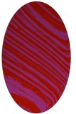 rug #992105 | oval red abstract rug