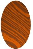 rug #992117 | oval red-orange rug