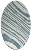 rug #992141 | oval blue-green abstract rug