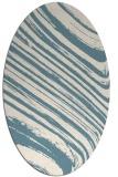 rug #992141 | oval blue-green natural rug