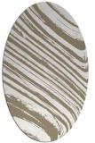 rug #992145 | oval white stripes rug