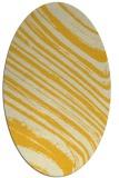 rug #992149 | oval yellow rug