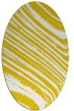 rug #992161 | oval yellow stripes rug