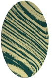 rug #992169 | oval yellow rug