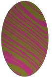 rug #992181 | oval light-green rug