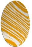 rug #992189   oval light-orange abstract rug
