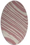 rug #992193 | oval pink abstract rug
