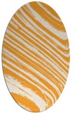 rug #992201 | oval light-orange abstract rug