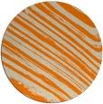 rug #992565 | round orange rug