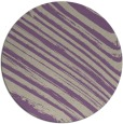 rug #992749 | round purple stripes rug