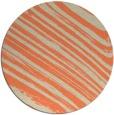 rug #992773 | round orange abstract rug
