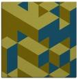 rug #996965 | square green retro rug