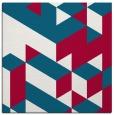 rug #997005 | square red retro rug