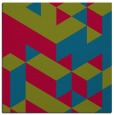 rug #997009 | square blue-green graphic rug