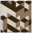 rug #997037 | square mid-brown retro rug