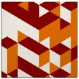 rug #997089   square orange geometry rug