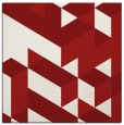 rug #997141 | square red geometry rug