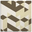 rug #997193 | square yellow retro rug