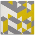 rug #997201 | square yellow retro rug