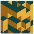 rug #997205 | square light-orange retro rug