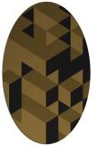 rug #997265 | oval black graphic rug