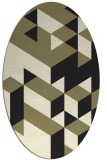 rug #997269 | oval black geometry rug