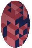 rug #997341 | oval pink geometry rug