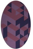 rug #997345 | oval purple geometry rug