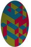 rug #997372 | oval retro rug