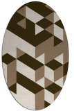 rug #997397 | oval beige geometry rug