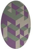 rug #997429   oval purple retro rug