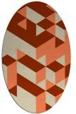 rug #997453 | oval orange graphic rug